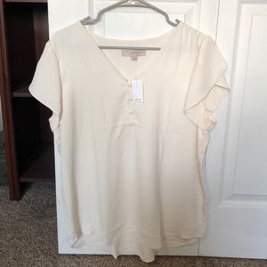Loft White Button Shirt